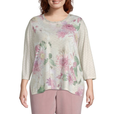 Alfred Dunner Home For The Holidays Floral Blouse - Plus