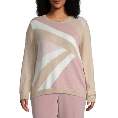 Alfred Dunner Home For The Holidays Colorblock Sweater - Plus