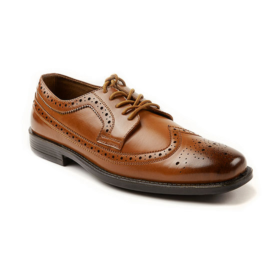 Deer Stags Mens Taylor Lace-up Wing Tip Oxford Shoes