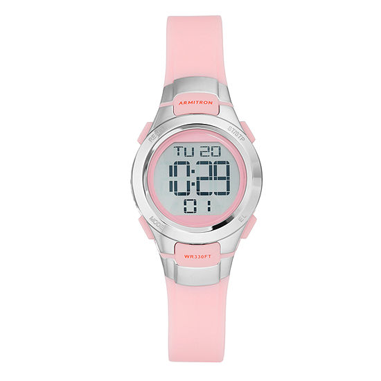 Armitron® Womens Pink Chronograph Digital Sport Watch 45/7012PNK