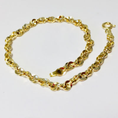 Made in Italy 14K Gold 8 Inch Link Chain Bracelet