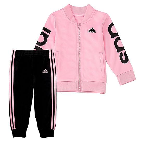 adidas Girls 2-pc. Pant Set Preschool Plus