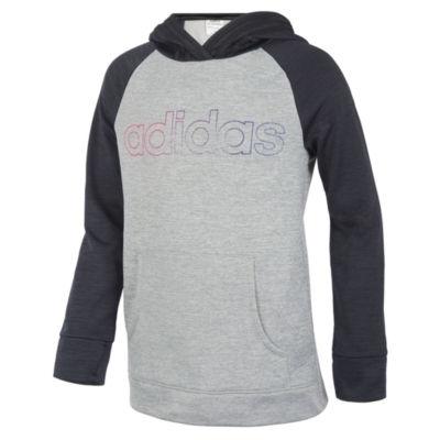 adidas Girls Crew Neck Short Sleeve Sweatshirt - Preschool
