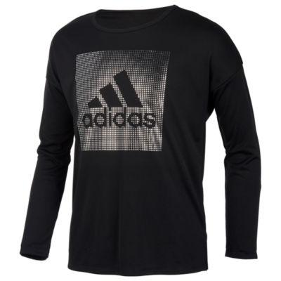 adidas Girls Round Neck Long Sleeve Graphic T-Shirt-Preschool