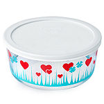 Pyrex Decorated Storage 4 Pc Lucky In Love - Food Container