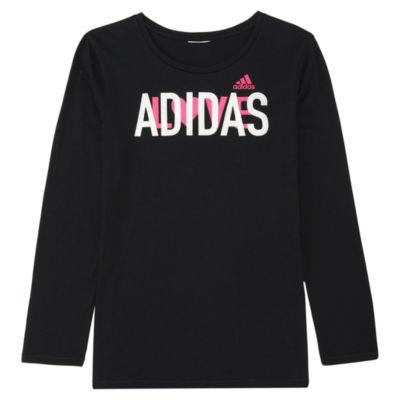 adidas Girls Long Sleeve Graphic T-Shirt-Preschool