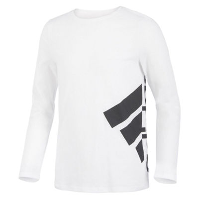 adidas Girls Crew Neck Long Sleeve T-Shirt-Preschool