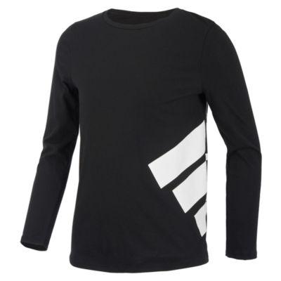 adidas Long Sleeve Crew Neck T-Shirt-Preschool Girls