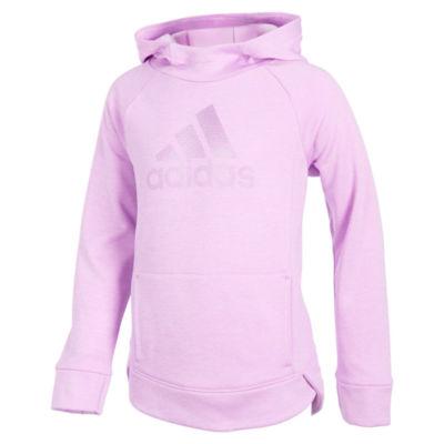 adidas Girls Hooded Neck Long Sleeve Sweatshirt - Preschool
