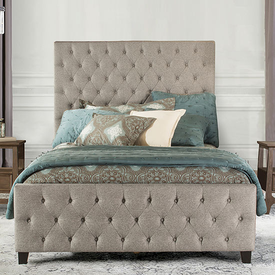 Savannnah Button-Tufted Microsuede Bed