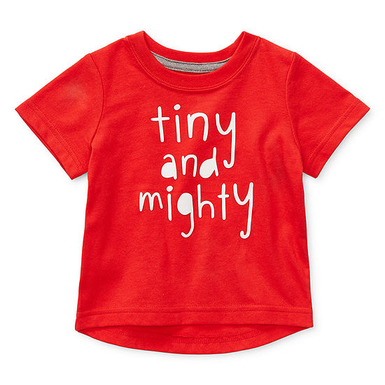 Okie Dokie Boys Crew Neck Short Sleeve Graphic T-Shirt - Baby