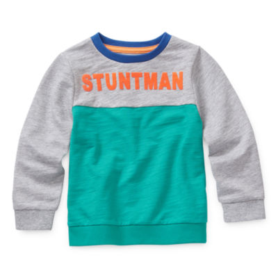Okie Dokie Boys Crew Neck Long Sleeve Sweatshirt - Toddler