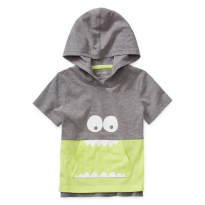 Okie Dokie Boys Cuffed Sleeve Hoodie-Little Kid