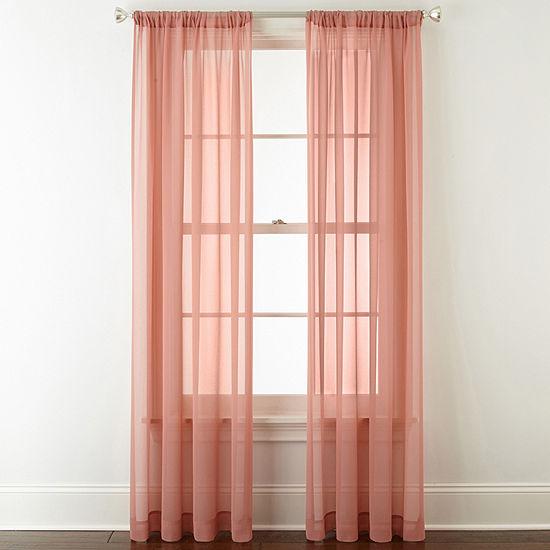Tori Rod Pocket Sheer Curtain Panel