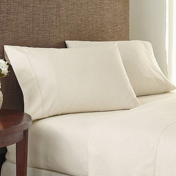 Crowning Touch by Welspun 400tc Jacquard Set of 2 Pillowcases