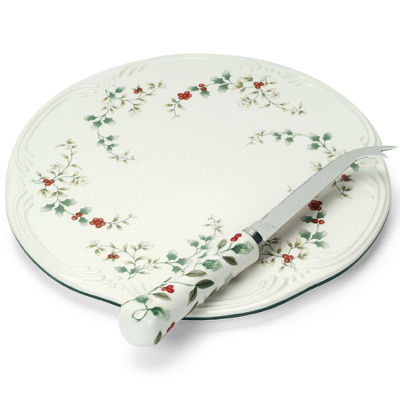 Pfaltzgraff® Winterberry Cheese Tray with Sculpted Slicer