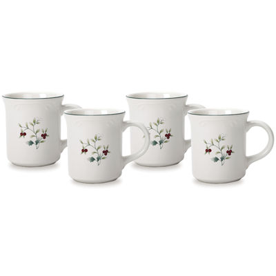 Pfaltzgraff® Winterberry Set of 4 Coffee Mugs