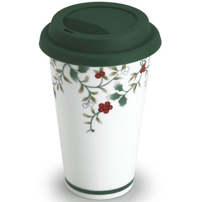 Pfaltzgraff® Winterberry Porcelain Travel Mug with Lid