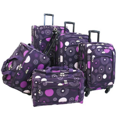 American Flyer Fireworks 5PC Spinner Luggage Set