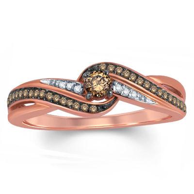 1/4 CT. T.W. White Diamond 10K Gold Side Stone Ring
