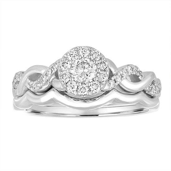 1/2 CT. T.W. White Diamond 14K Gold Bridal Set