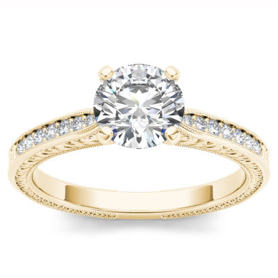 1 CT. T.W. Round White Diamond 14K Gold Engagement Ring