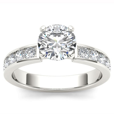 1 1/2 CT. T.W. Round White Diamond 14K Gold Engagement Ring