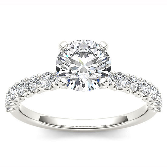 1 Ct Tw Round White Diamond 14k Gold