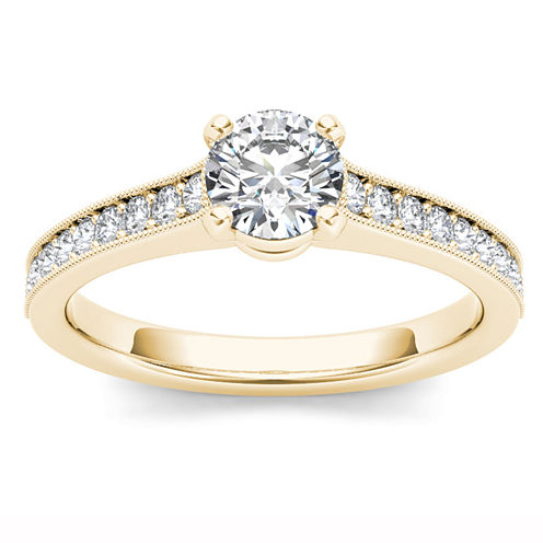 1 1/5 CT. T.W. Round White Diamond 14K Gold Engagement Ring