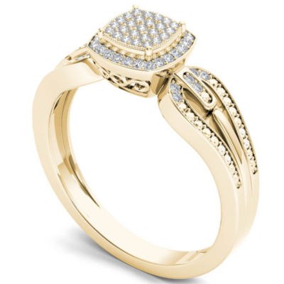 1/8 CT. T.W. Round White Diamond 10K Gold Engagement Ring