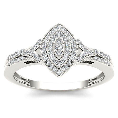 1/5 CT. T.W. Round White Diamond 10K Gold Engagement Ring