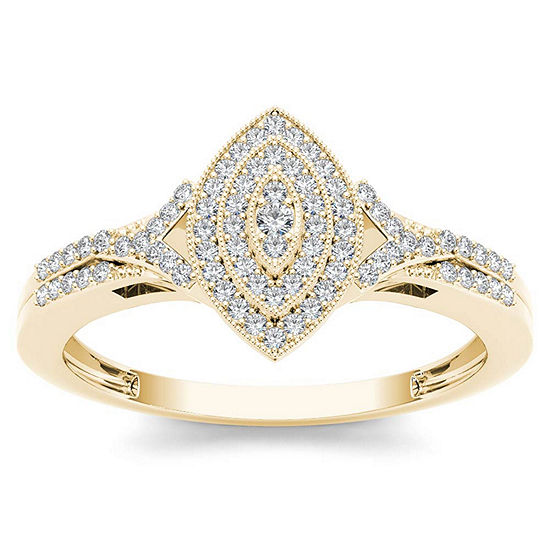 1/5 CT. T.W. Round White Diamond 10K Gold Engagement Ring