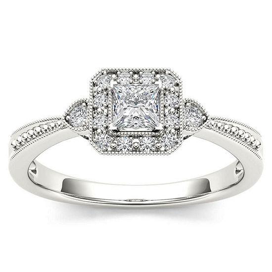 1/3 CT. T.W. Round White Diamond 10K Gold Engagement Ring