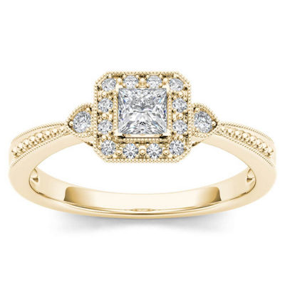 1/3 CT. T.W. Round White Diamond 10K Gold Engagement Ring