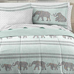 Loft Style Boho Elephant Complete Bedding Set with Sheets
