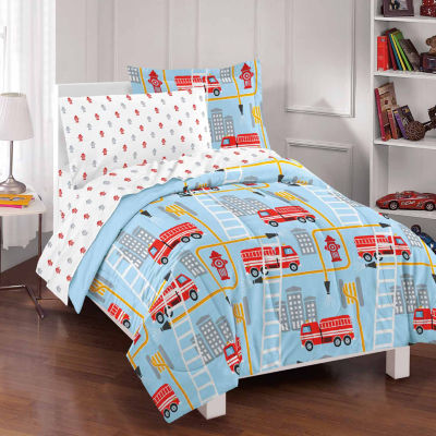 Dream Factory Dream Big Firetruck Comforter Set