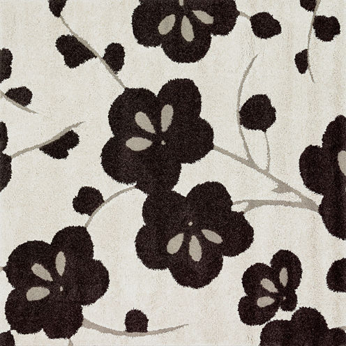 "Loloi Floral Square Rug - 7'7"""