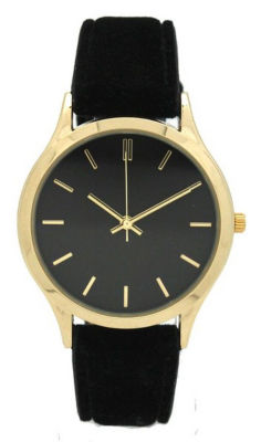 Olivia Pratt Velvet Womens Black Strap Watch-17459black