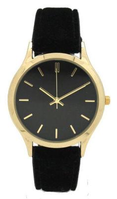 Olivia Pratt Velvet Womens Black Strap Watch-17459black
