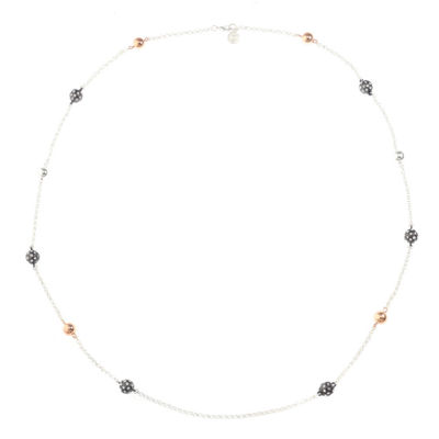 Liz Claiborne Womens Clear Strand Necklace