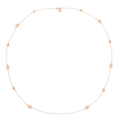 Liz Claiborne Womens Clear Round Strand Necklace