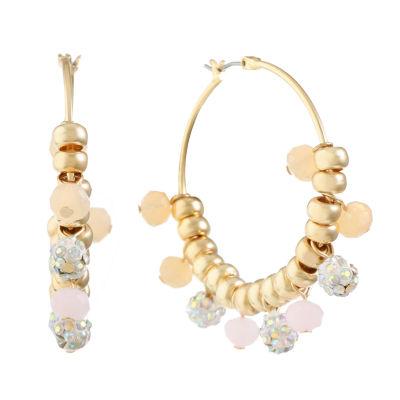 Liz Claiborne White Hoop Earrings