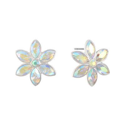 Liz Claiborne White 22mm Flower Stud Earrings