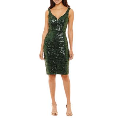 Bisou Bisou Sleeveless Sequin Sheath Dress