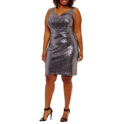 B. Darlin Sleeveless Sheath Dress-Plus