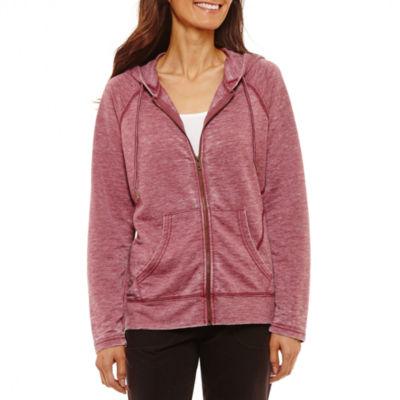 St. John's Bay Active Hooded Lightweight Softshell Jacket-Petite