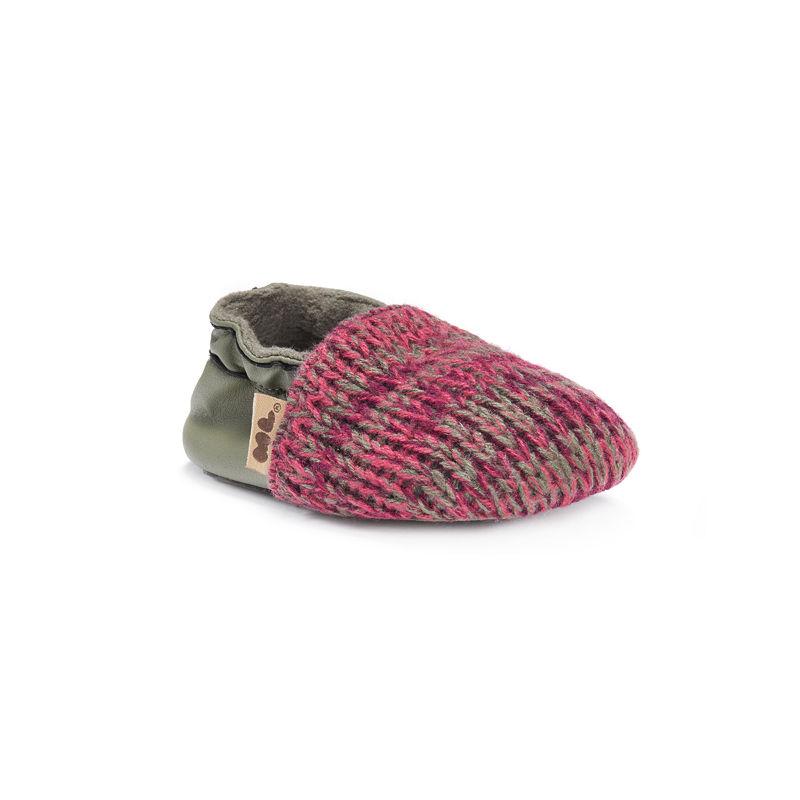 MUK LUKS Baby Soft Shoes, Unisex, Dark Cherry, Size 0-6 Months