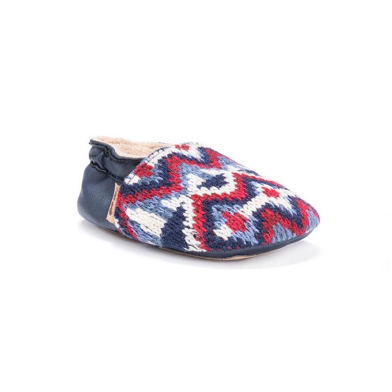 MUK LUKS Baby Soft Shoes, Unisex, Galaxy, Size 0-6 Months