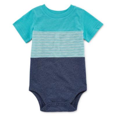 Okie Dokie Short Sleeve Stripe Bodysuit - Baby Boy NB-24M