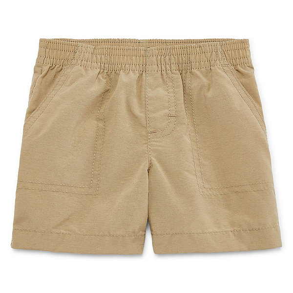 Okie Dokie Solid Twill Pull-On Shorts - Baby Boys NB-24M
